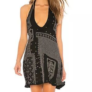 Free People Beaded Bandana Country Nights Dress M